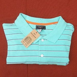 Dockers men's s/s polo shirt. New with 2 spots